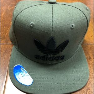 Olive green adidas SnapBack one size fits all